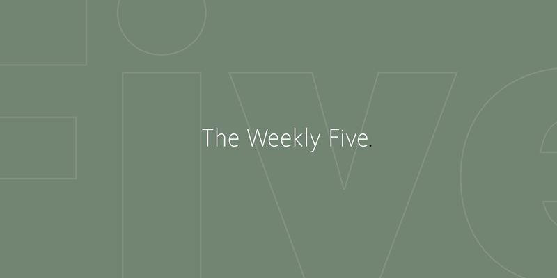 The Weekly Five graphic. (c) Ford Foundation