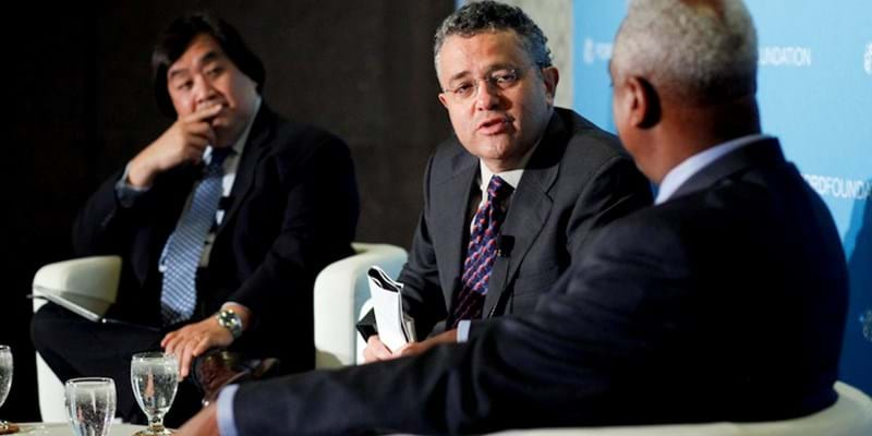 The State of Rights in the United States with moderator Jeffrey Toobin. 2011. This image is not available under 4.0 Creative Commons license.