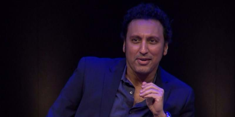 Aasif Mandvi gets a call from Norman Lear. This image is not available under the 4.0 Creative Commons license.