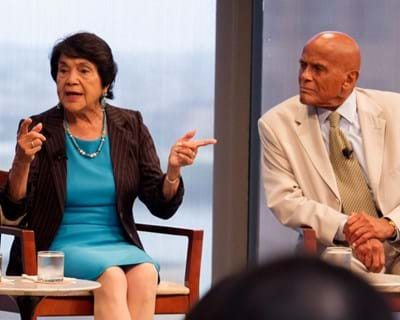 Harry Belafonte and Dolores Huerta on being at the forefront of the civil rights movement. 2013. This image is not available under the 4.0 Creative Commons license.
