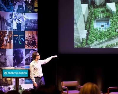 Jake Barton on interaction design for physical spaces. 2012. This image is not available under 4.0 Creative Commons license.