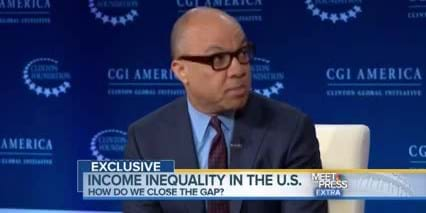 Darren Walker talks inequality on Meet the Press. 2014. This image is not available under 4.0 Creative Commons license.