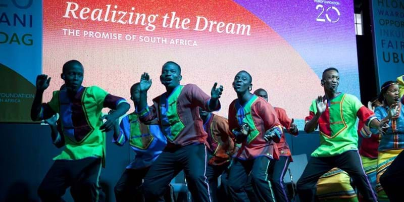 Mzansi Youth Choir Live Performance. 2014. This image is not available under the 4.0 Creative Commons license.