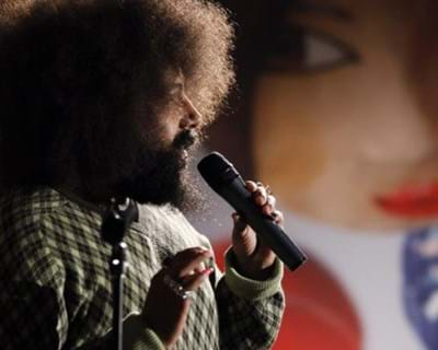 Reggie Watts Live Performance. 2011. This image is not available under the 4.0 Creative Commons license.