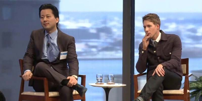 Dustin Lance Black and Kenji Yoshino. 2013. This image is not available under the 4.0 Creative Commons license.