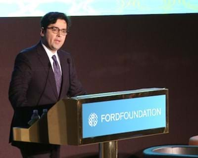 Welcome remarks from Luis Ubiñas. 2011. This image is not available under the 4.0 Creative Commons license.