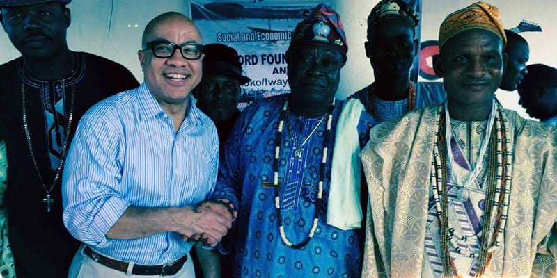 Darren Walker's visit to Nigeria, West Africa in 2014. This image is not available under the 4.0 Creative Commons license.