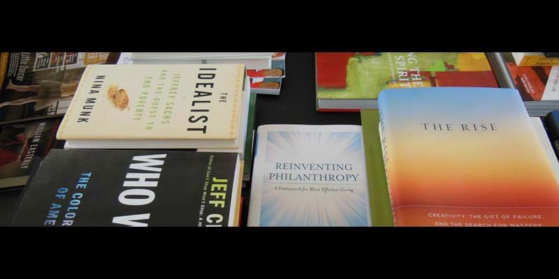 Darren Walker's summer reading collection. This image is not available under the 4.0 Creative Commons license.