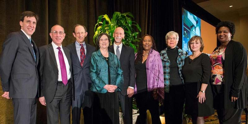 Speakers at the State Priorities Partnership 20th anniversary dinner. 2014, Photo Credit & (c) EMILYCLACKPHOTOGRAPHY