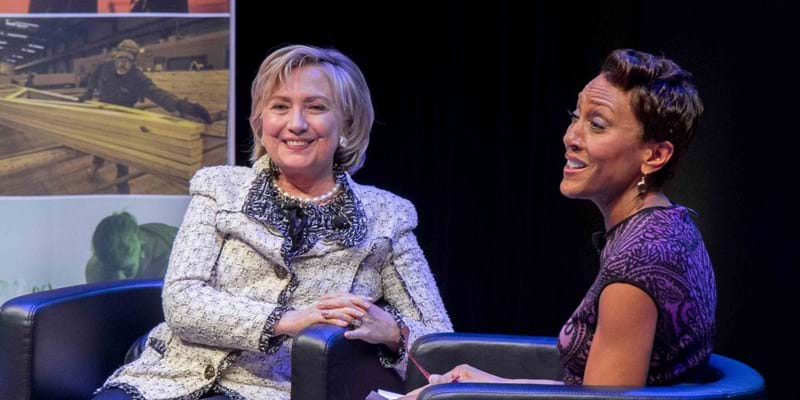 Conversation between Hillary Clinton and Robin Roberts. 2014, Photo Credit & (c): Ben Asen