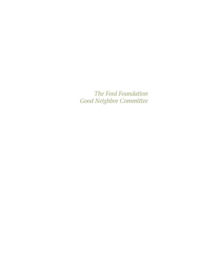 Ford Foundation Good Neighbor Committee