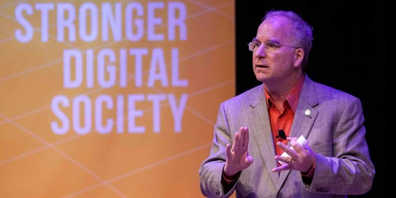 Brewster Kahle of the Internet Archive. 2015. This image is not available under 4.0 Creative Commons license.