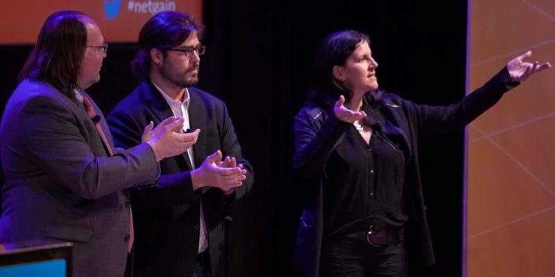 Laura Poitras and Christopher Soghoian on government and corporate surveillance and its implications for free speech and thought. 2015. This image is not available under 4.0 Creative Commons license.
