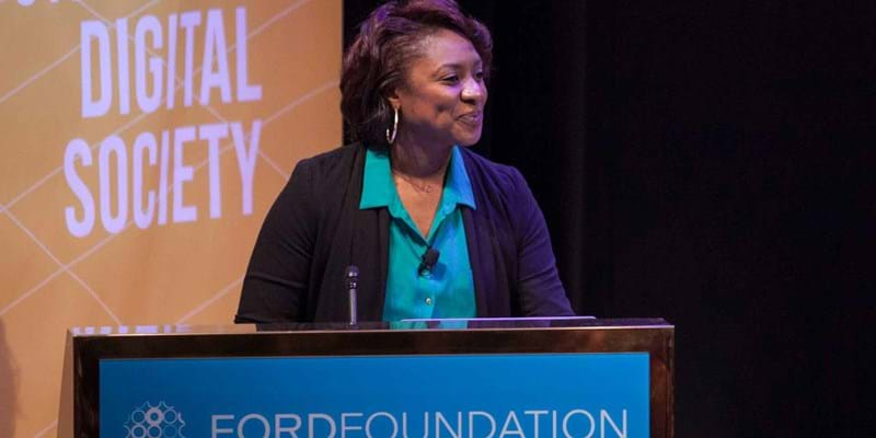 Alicia Garza on the challenges, hopes, and implications of activism. 2015. This image is not available under 4.0 Creative Commons license.