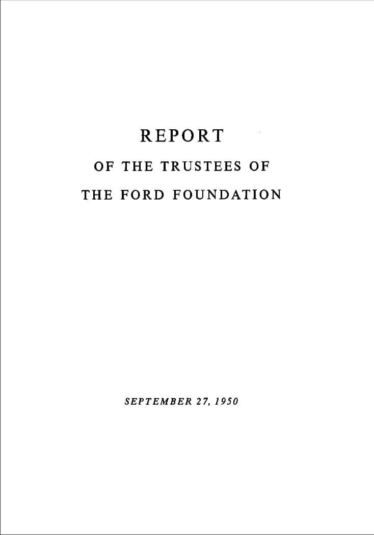 FF Annual Report 1950