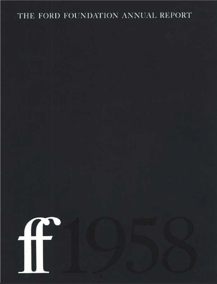 FF Annual Report 1958