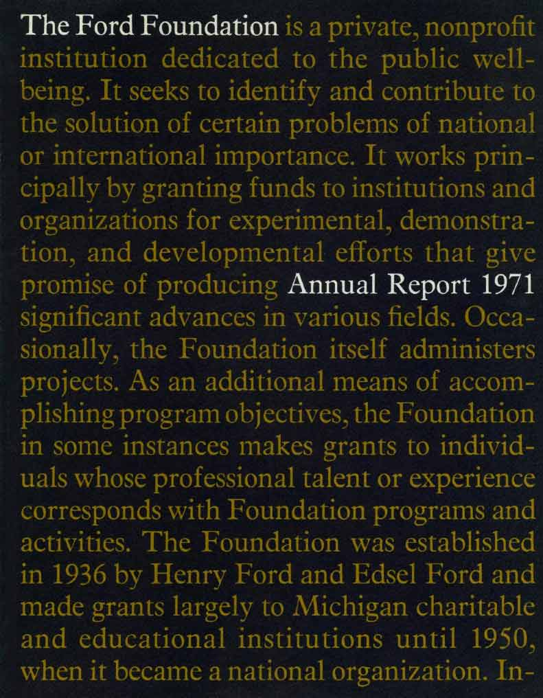 FF Annual Report 1971