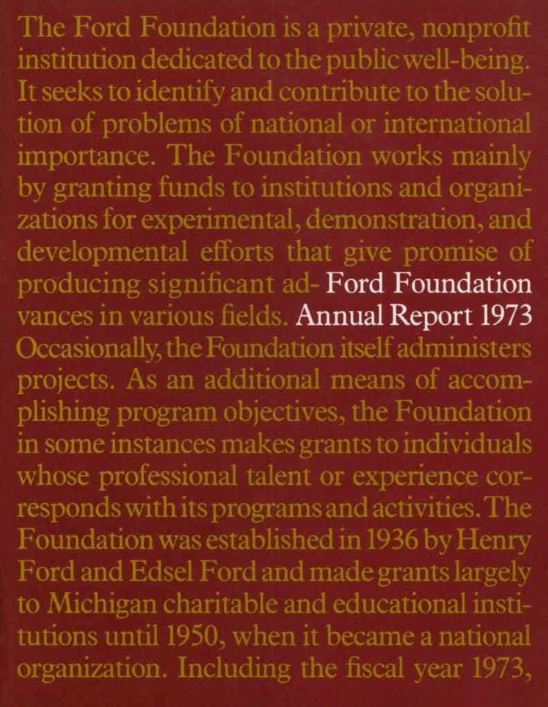 FF Annual Report 1973
