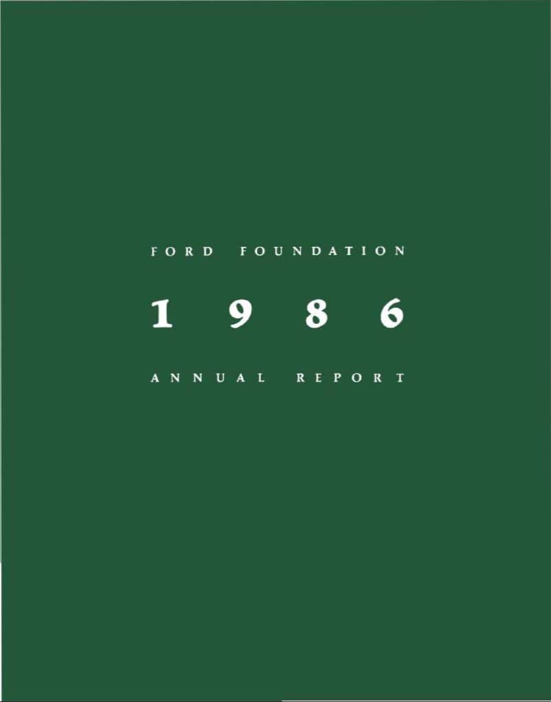 FF Annual Report 1986