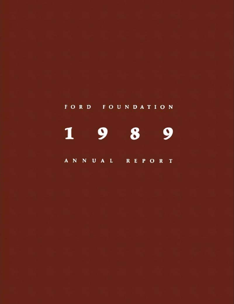 FF Annual Report 1989