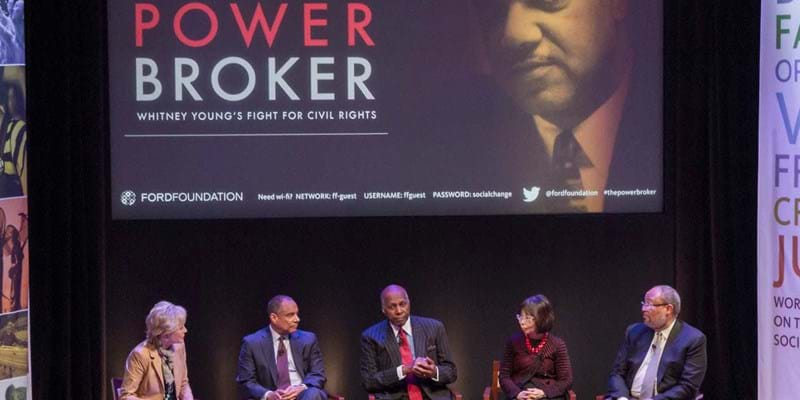"A special screening of "" The Powerbroker"". This image is not available under the 4.0 Creative Commons license."