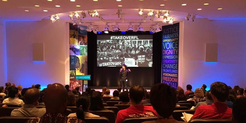 Ford hosted an event where youth organizers from eleven states presented their work as part of Student Power Projects. 2015.  Photo Credit: Holly Fetter