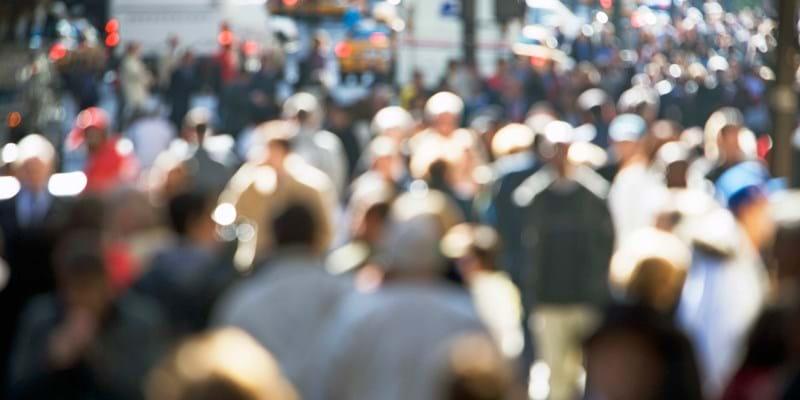 Crowd on Fifth Avenue. New York. Photo Credit: ©Alan Schein Photography/Corbis