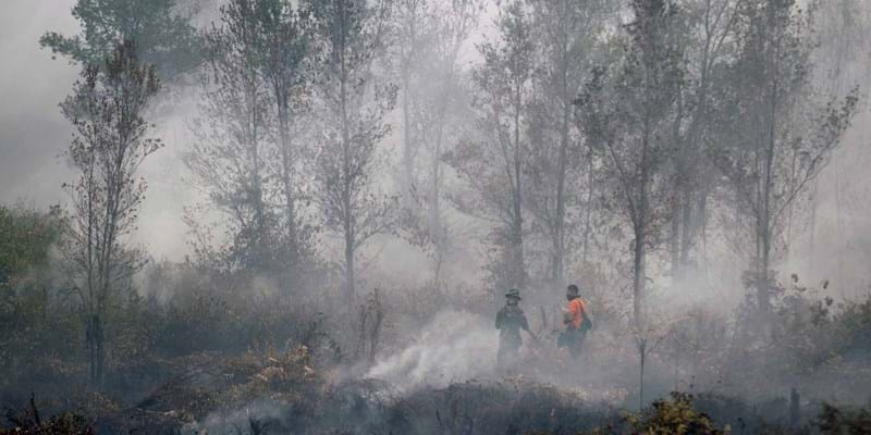 Indonesia Haze. Indonesia. September 2015. Photo Credit: ©Bagus Indahono/Corbis