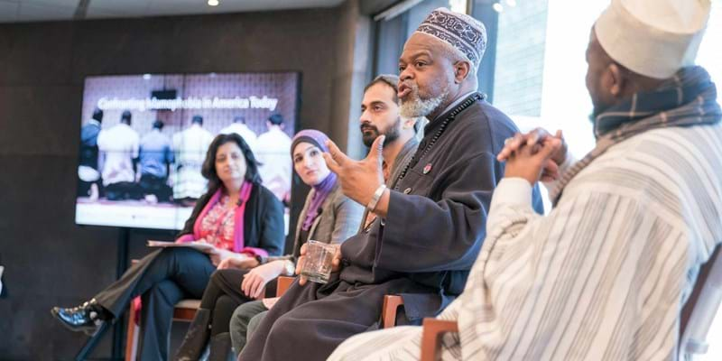 Panel discussion at Confronting Islamophobia. New York. 2016. Photo credit: Simon Luethi