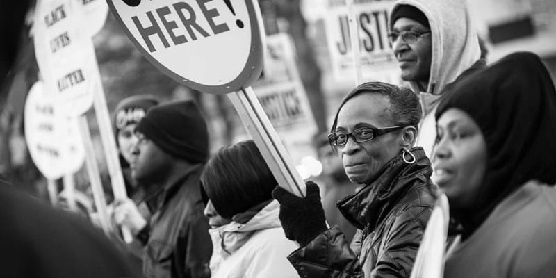 #BlackLivesMatter demonstration. Baltimore, Maryland. 2015. Photo credit: Flickr user Dorret, www.dorret.com