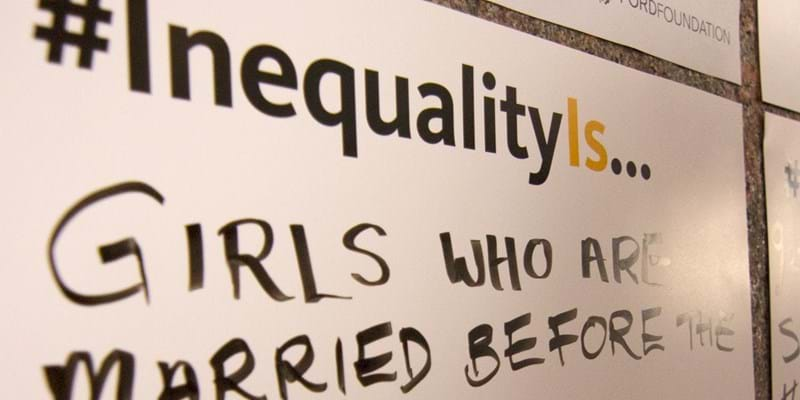 #InequalityIs cards filled out by UN delegates attending the Commission for the Status of Women. New York. 2016.