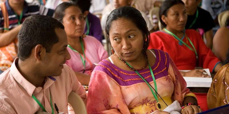 Conference of indigenous activists. Peru. 2012. Photo credit: Ford Foundation