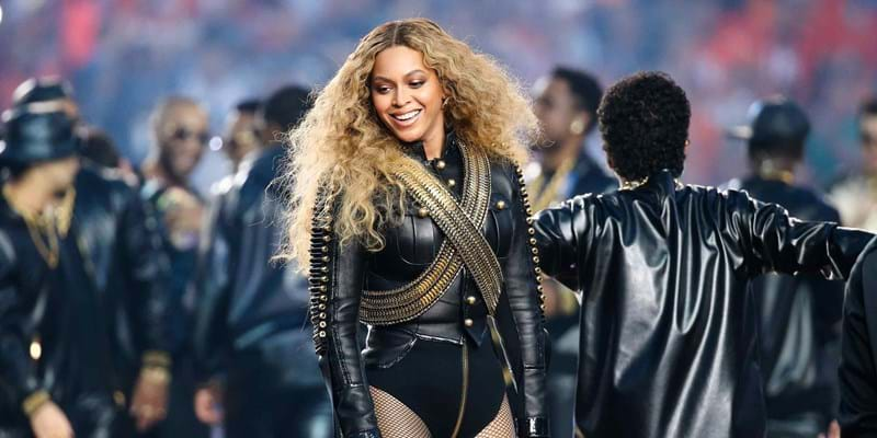 Beyonce performs during the halftime show at Super Bowl 50. 2016. Photo credit: ©Anthony Behar/Sipa USA/Newscom