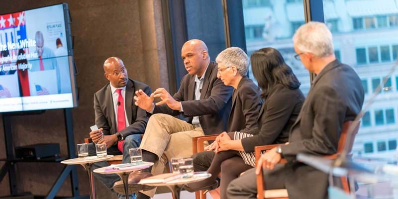 Brown is the New White panel discussion. New York. 2016. Photo credit: Simon Luethi