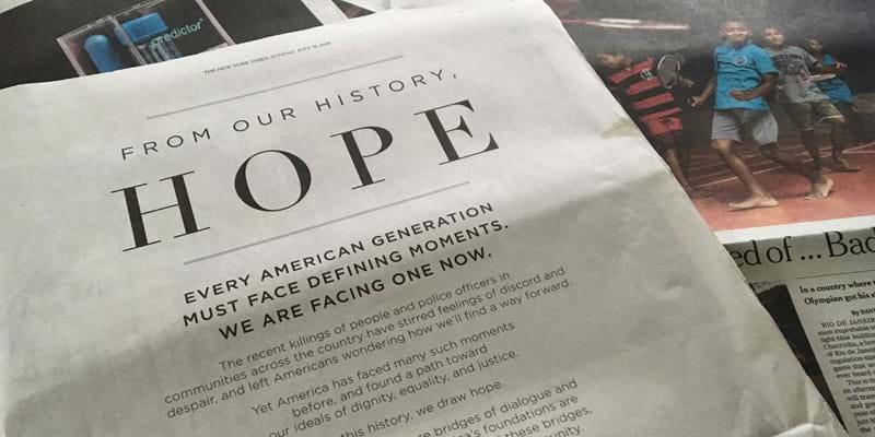 From Our History Hope newspaper ad