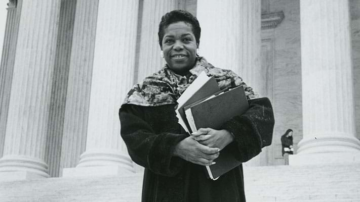 NAACP Legal Defense Fund Director Elaine Jones, 1952. Photo Credit: © Ford Foundation