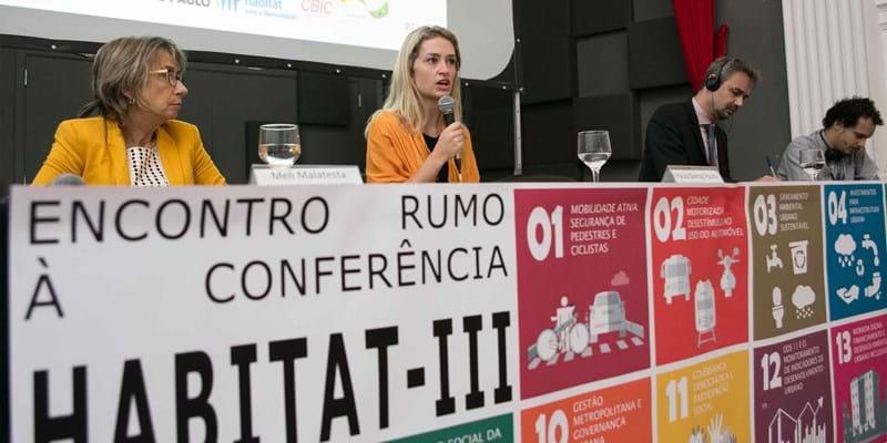 Encontro rumo à conferência Habitat III em São Paulo. Brazil. 2016. Photo Credit: Mariana Gil/WRI Brasil Cidades Sustentáveis (Creative Commons license)