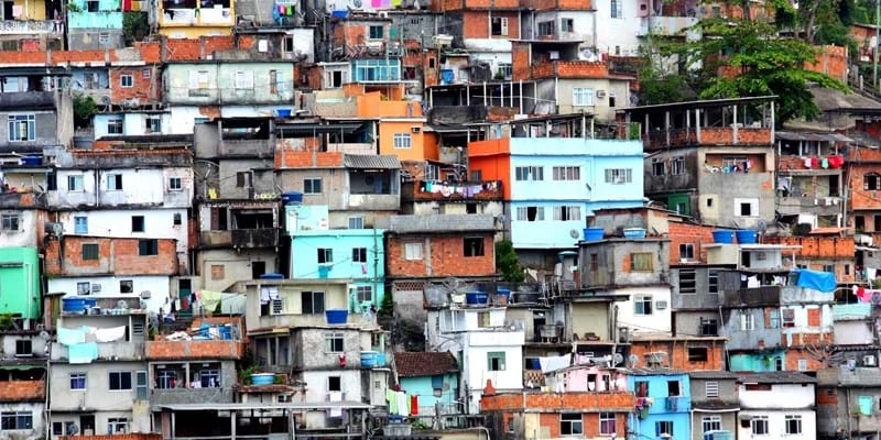 Arial view of one of Brazil's Favelas - Photo by Flickr user dany13