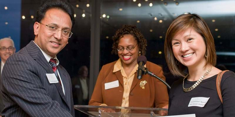 Ford Foundation grant makers celebrate with grantees of the Good Neighbor Committee.