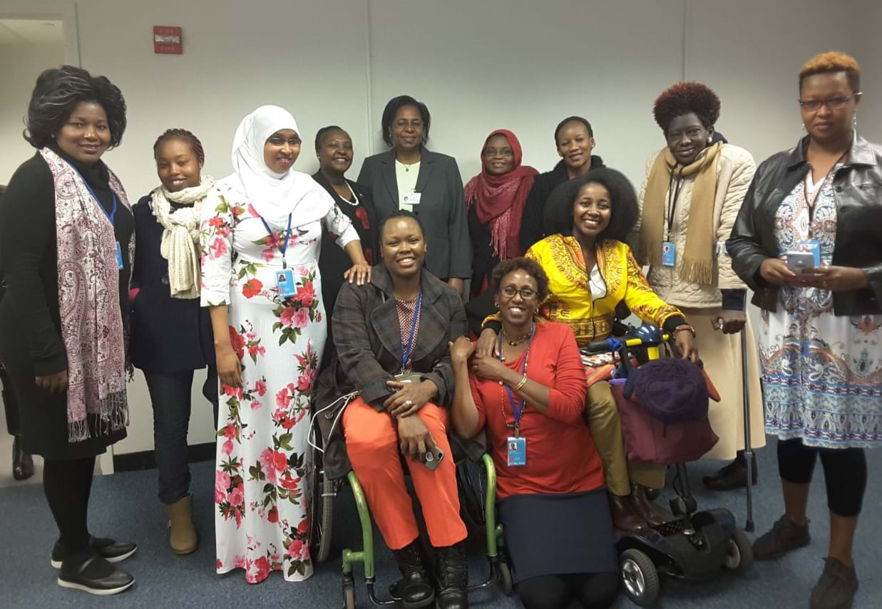 Delegation of disabled women activists