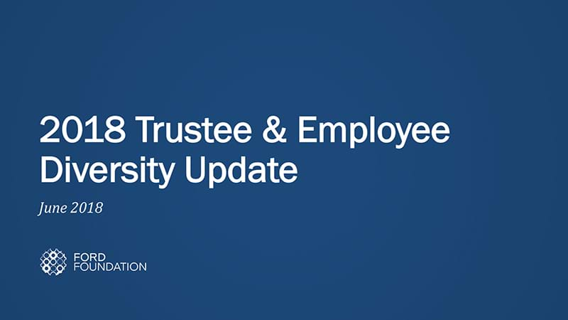 2018 Trustee & Employee Diversity Update Cover