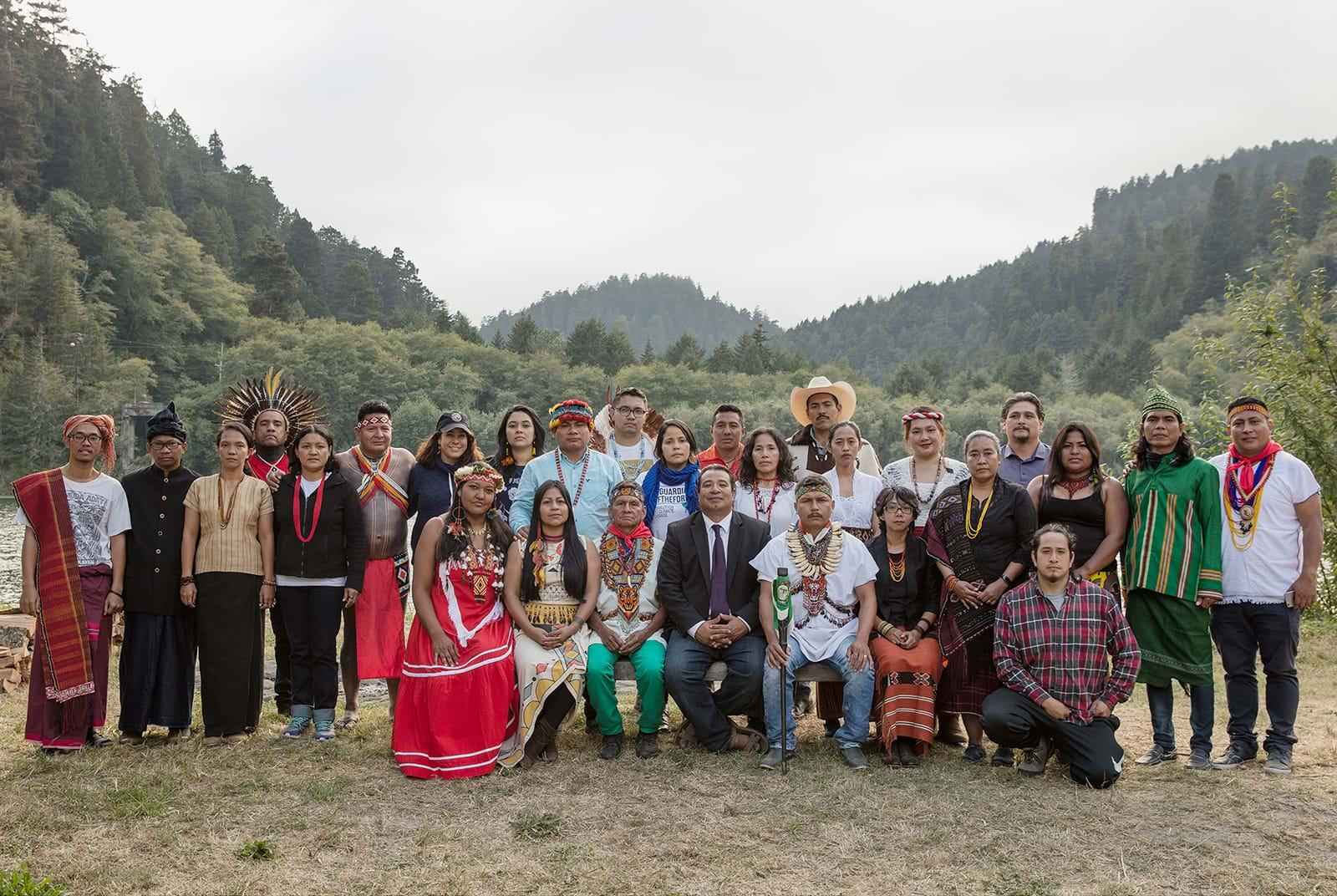 Group shot of indigenous peoples