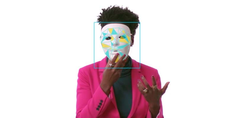 Joy Buolamwini against a white background