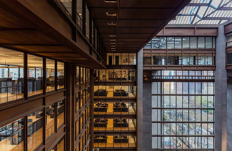 Ford Foundation Center for Social Justice detail - Photograph by Richard Barnes