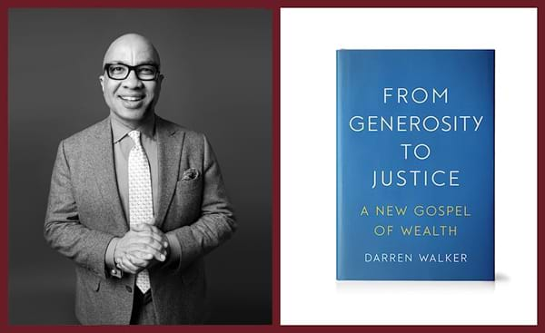 Darren Walker and cover of book