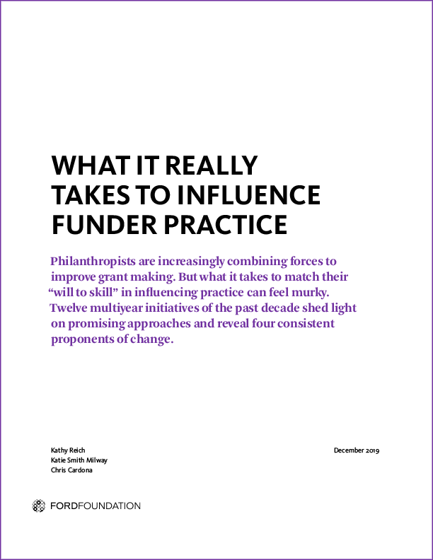 BUILD-influence-funder-practice-report