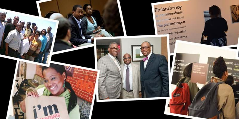 Photo montage of assorted images to celebrate Black Philanthropy Month.